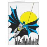 Batman Swings Greeting Card