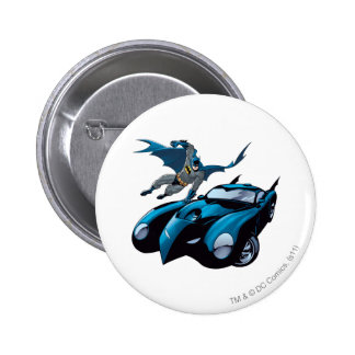 Batman swings over 2 inch round button