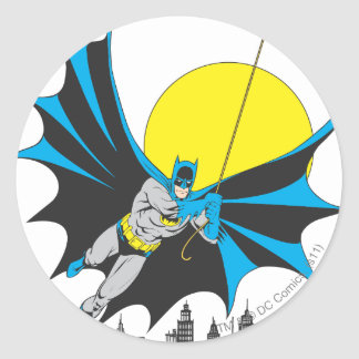 Batman Swings Round Sticker