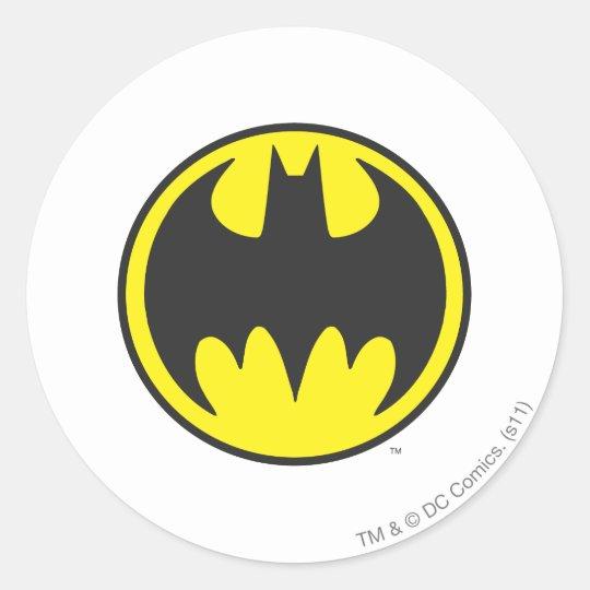 Batman symbol bat circle logo classic round sticker
