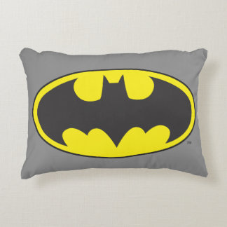 Batman Symbol | Bat Oval Logo Accent Pillow