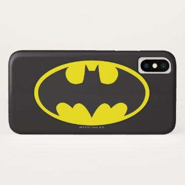 Batman Symbol | Bat Oval Logo iPhone X Case