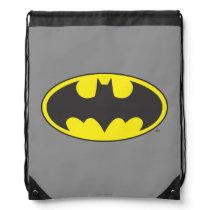Batman Symbol | Bat Oval Logo Drawstring Bag