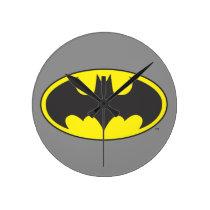 Batman Symbol   Bat Oval Logo Round Clock