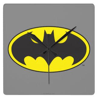 Batman Symbol   Bat Oval Logo Square Wall Clock