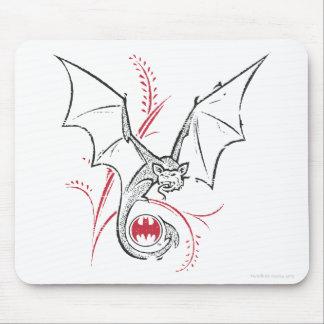 Batman Symbol | Bat Red Black Logo Mouse Pad
