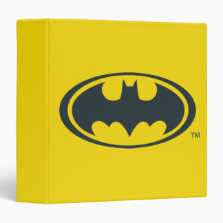 Batman Symbol   Black and White Logo 3 Ring Binder