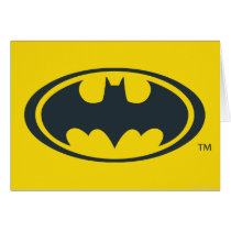 Batman Symbol | Black and White Logo Card