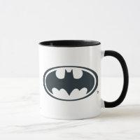 Batman Symbol   Black and White Logo Mug
