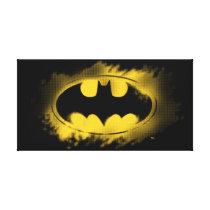 Batman Symbol | Black and Yellow Logo Canvas Print