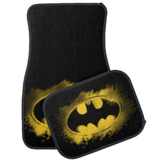 Batman Symbol   Black and Yellow Logo Car Mat