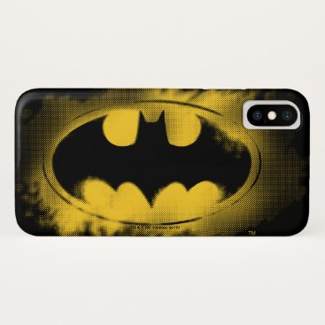 Batman Symbol | Black and Yellow Logo iPhone X Case