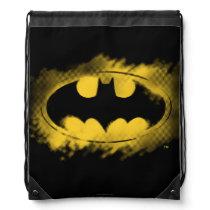 Batman Symbol | Black and Yellow Logo Drawstring Bag