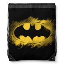 Batman Symbol | Black and Yellow Logo Drawstring Bag