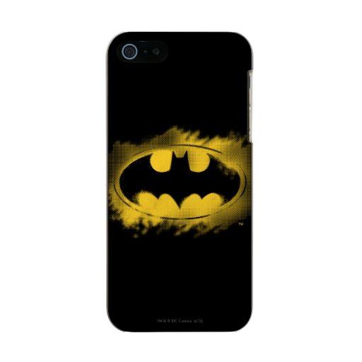 Batman Symbol | Black and Yellow Logo Metallic Phone Case For iPhone SE/5/5s