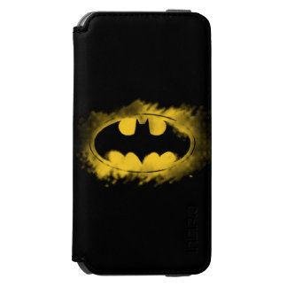 Batman Symbol | Black and Yellow Logo iPhone 6/6s Wallet Case