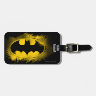 Batman Symbol   Black and Yellow Logo Luggage Tag