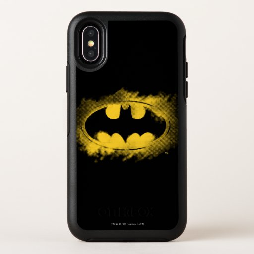 Batman Symbol | Black and Yellow Logo OtterBox Symmetry iPhone X Case