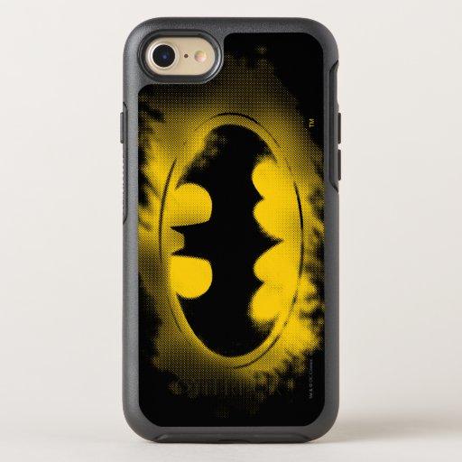 Batman Symbol | Black and Yellow Logo OtterBox Symmetry iPhone 8/7 Case