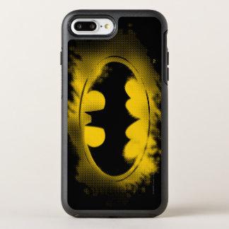 Batman Symbol   Black and Yellow Logo OtterBox Symmetry iPhone 8 Plus/7 Plus Case