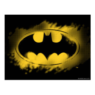 Batman Symbol | Black and Yellow Logo Postcard