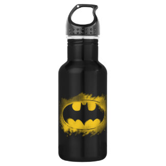Batman Symbol | Black and Yellow Logo Stainless Steel Water Bottle