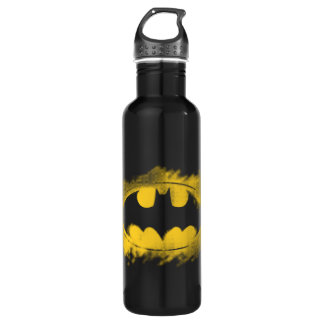 Batman Symbol | Black and Yellow Logo Water Bottle