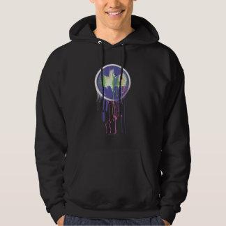Batman Symbol | Circle Purple Logo Hooded Sweatshirt