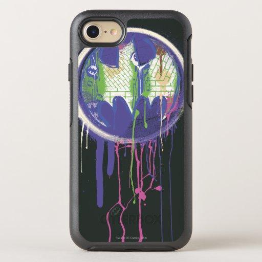 Batman Symbol | Circle Purple Logo OtterBox Symmetry iPhone 8/7 Case