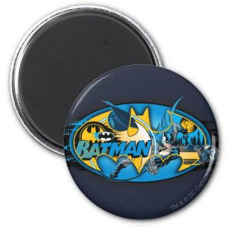 Batman Symbol | Classic Collage Logo 2 Inch Round Magnet