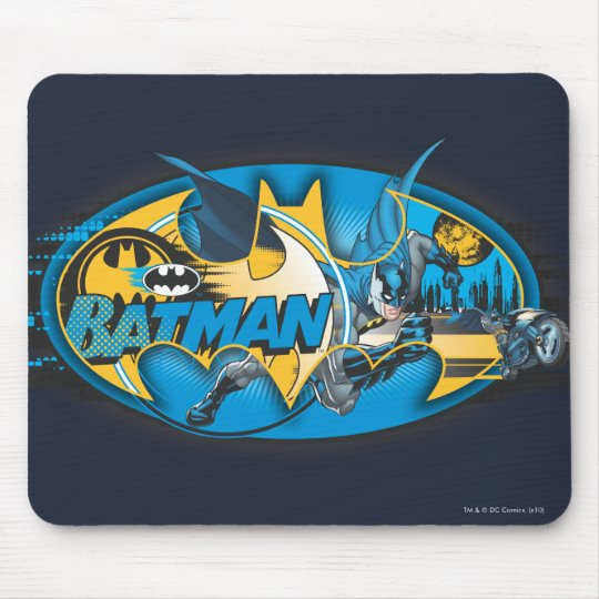 Batman Symbol | Classic Collage Logo Mouse Pad