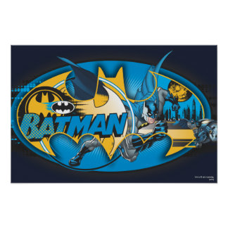 Batman Symbol   Classic Collage Logo Poster