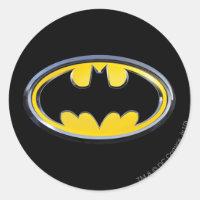 Batman Symbol   Classic Logo Classic Round Sticker