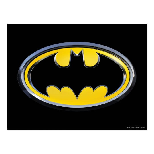 Batman Symbol Classic Logo Postcard Zazzle