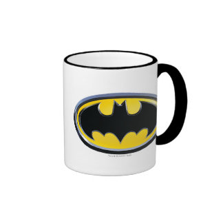 Batman Symbol   Classic Logo Ringer Coffee Mug