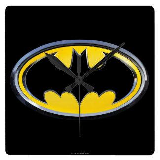 Batman Symbol | Classic Logo Square Wall Clock