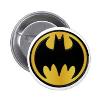 batman, batman logo, batman symbol, batman emblem, yellow and black, joker, the joker, gotham, gotham city, batman movie, bat, bats, super hero, super heroes, hero, heroes, villians, villian, batman art, batman comics, comic, batman comic, dc batman, batman villians, the penguin, penguin, the roman, falcone, the boss, boss, corrupt, two-face, two face, harvey dent, catwoman, hush, scarecrow, the mad hatter, mister freeze, mr freeze, robin, Button with custom graphic design