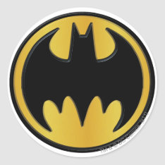 Batman Symbol | Classic Round Logo Classic Round Sticker at Zazzle