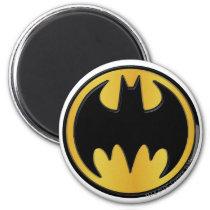 Batman Symbol | Classic Round Logo Magnet