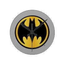 Batman Symbol   Classic Round Logo Round Clock