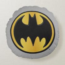 Batman Symbol | Classic Round Logo Round Pillow
