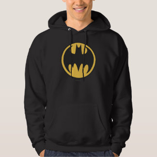 Batman Symbol | Dark Yellow Circle Logo Hooded Sweatshirt