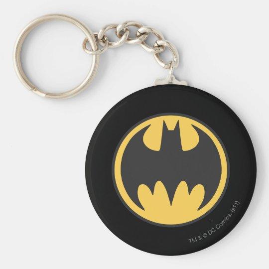 Batman Symbol | Dark Yellow Circle Logo Keychain