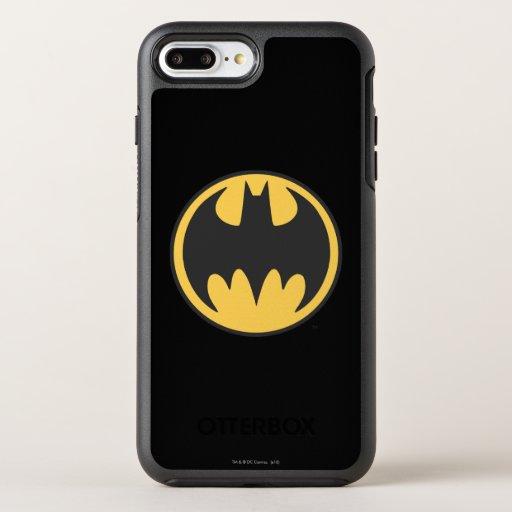 Batman Symbol | Dark Yellow Circle Logo OtterBox Symmetry iPhone 8 Plus/7 Plus Case