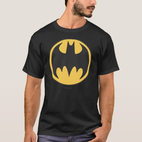 Batman Symbol  Dark Yellow Circle Logo T_Shirt