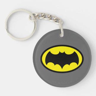 Batman Symbol Double-Sided Round Acrylic Keychain