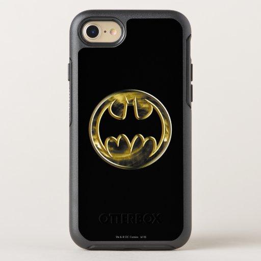 Batman Symbol | Gold Logo 2 OtterBox Symmetry iPhone 8/7 Case
