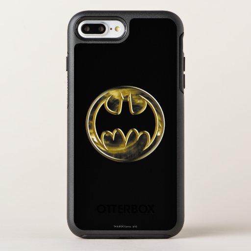 Batman Symbol | Gold Logo 2 OtterBox Symmetry iPhone 8 Plus/7 Plus Case