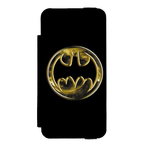 Batman Symbol | Gold Logo Wallet Case For iPhone SE/5/5s