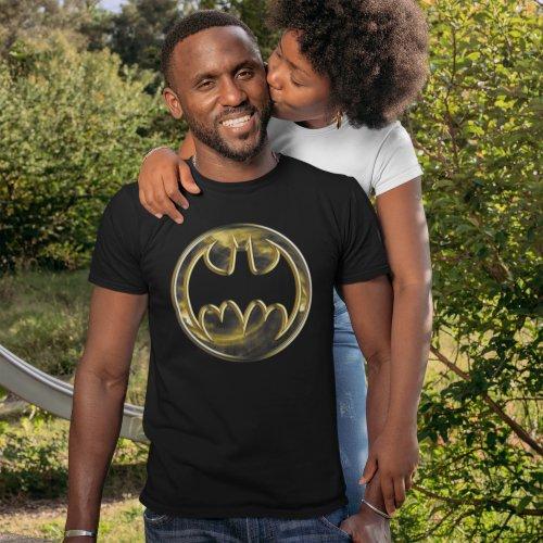 Batman Symbol  Gold Logo T_Shirt